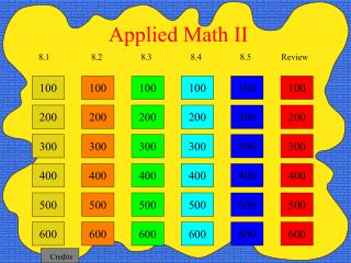 Applied Math II