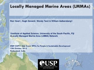 Locally Managed Marine Areas (LMMAs)