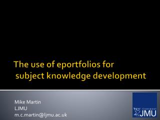 The use of  eportfolios  for  subject knowledge development