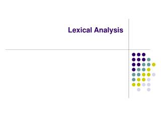 Lexical Analysis