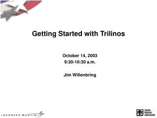 Getting Started with Trilinos