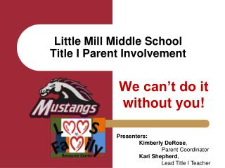 Little Mill Middle School Title I Parent Involvement