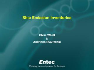 Ship Emission Inventories