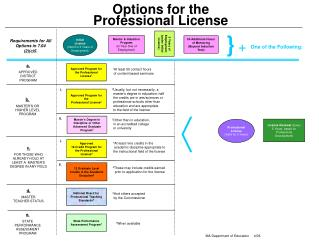 Options for the  Professional License