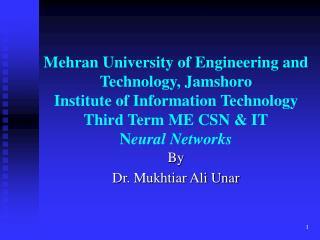 By  Dr. Mukhtiar Ali Unar