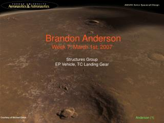 Brandon Anderson Week 7: March 1st, 2007