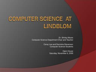 Computer Science  At  Lindblom