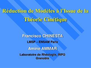 Réduction de Modèles à l'Issue de la Théorie Cinétique