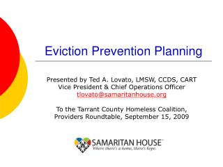 Eviction Prevention Planning