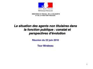 MINISTÈRE DU TRAVAIL, DE LA SOLIDARITE  ET DE LA FONCTION PUBLIQUE