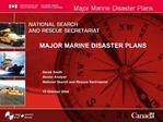 MAJOR MARINE DISASTER PLANS