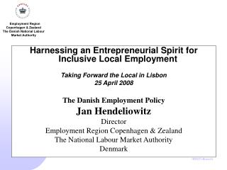 Harnessing an Entrepreneurial Spirit for Inclusive Local Employment