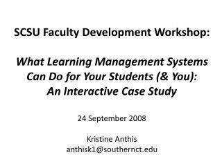 Learning Management Systems?