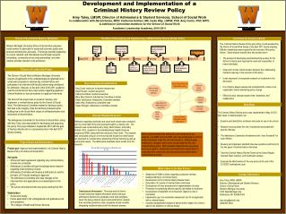 Development and Implementation of a  Criminal History Review Policy