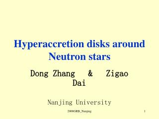Hyperaccretion disks around Neutron stars