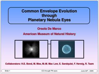 Common Envelope Evolution through  Planetary Nebula Eyes Orsola De Marco