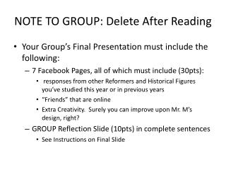 NOTE TO GROUP: Delete After Reading