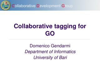 Collaborative tagging for GO