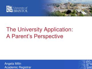 The University Application: A Parent's Perspective