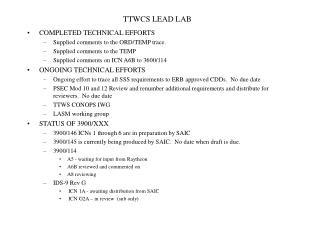 TTWCS LEAD LAB