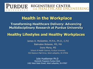 Health in the Workplace