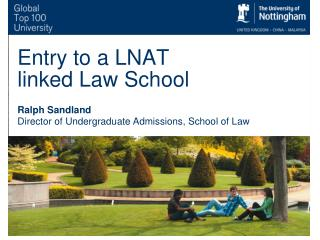 Entry to a LNAT linked Law School