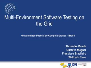 Multi-Environment Software Testing on the Grid