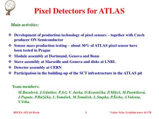 Pixel Detectors for ATLAS