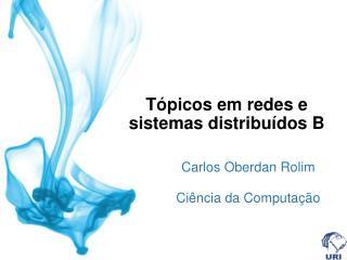 T�picos em redes e sistemas distribu�dos B