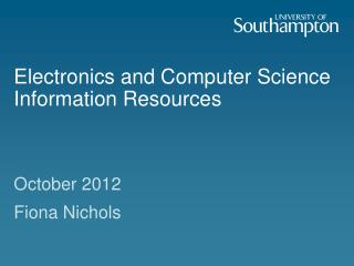 Electronics and Computer Science Information Resources