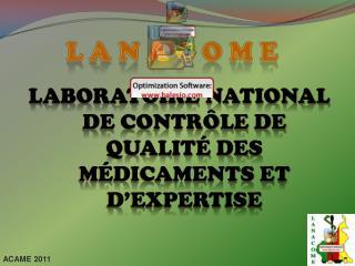 Laboratoire National de Contrôle de Qualité des Médicaments et d'Expertise