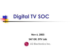Digital TV SOC