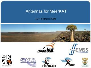 Antennas for MeerKAT