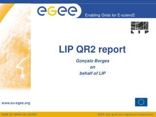 LIP QR2 report