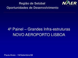 4º Painel – Grandes Infra-estruturas NOVO AEROPORTO LISBOA