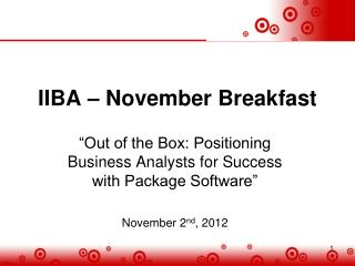 IIBA – November Breakfast