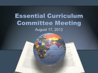 Essential Curriculum Committee Meeting