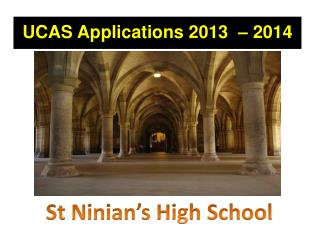 UCAS Applications 2013  – 2014