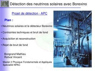 Détection des neutrinos solaires avec Borexino