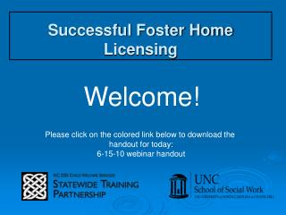 Successful Foster Home Licensing