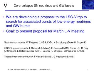 Core-collapse SN neutrinos and GW bursts