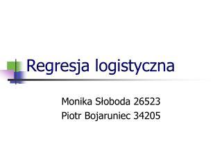 Regresja logistyczna