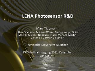 LENA Photosensor R&D