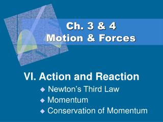 Ch. 3  4 Motion  Forces