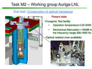 Task M2 – Working group Auriga-LNL
