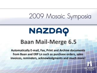 Baan Mail-Merge 6.5