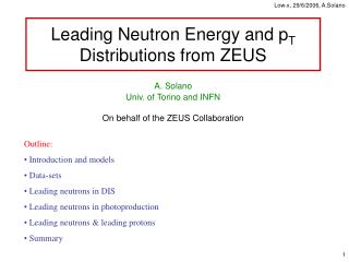 Leading Neutron Energy and p T  Distributions from ZEUS