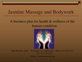 Jasmine Massage and Bodywork