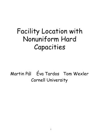 Facility Location with Nonuniform Hard Capacities