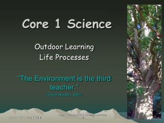 Core 1 Science